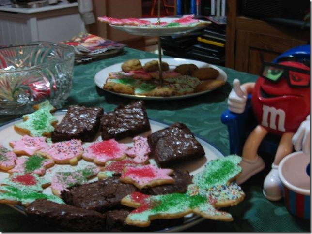 Holiday brownies cookies