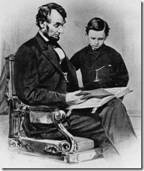 Lincoln father and son reading