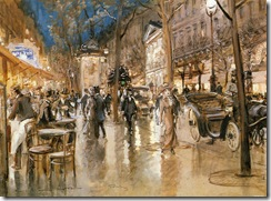 Stein Evening on a Parisian Boulevard