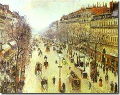 Pissarro_The Boulevard Montmartre on a Cloudy Morning