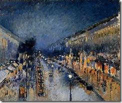 Pissarro boulevard_montmartre night