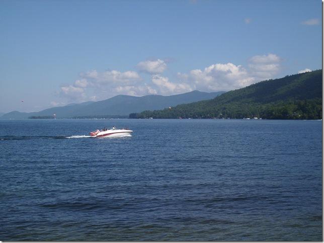 08 26 11 Lake George looking north boat