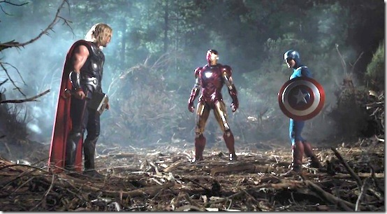Avengers Thor Iron Man and Cap