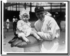 Walter Johnson and daughter maybe L of C