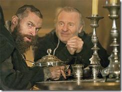Les Mis Valjean and the bishop