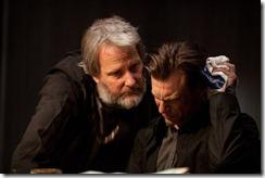 Jeff Daniels as Abe and Noah Segan as Kid Blue in Looper