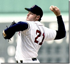 Boston Red Sox Roger Clemens at Fenway Park1990