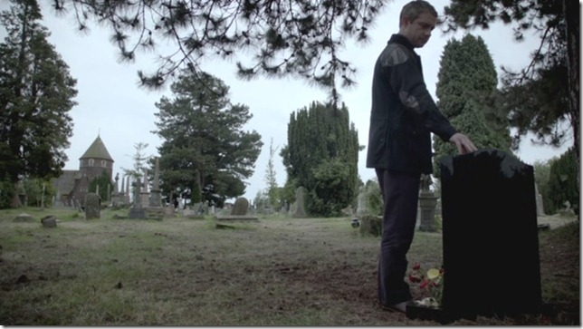 S Watson at the grave 1b
