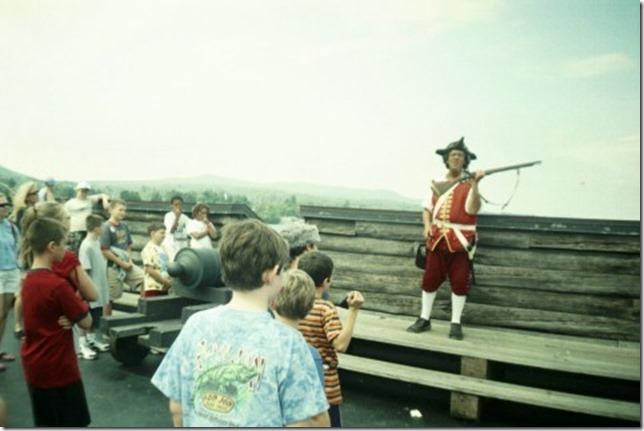2004 08 Ft Wm Henry 1 Musket practice