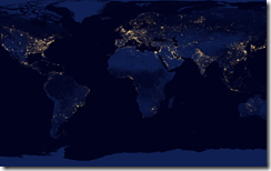 CGI 2014 World Map Electricity NASA