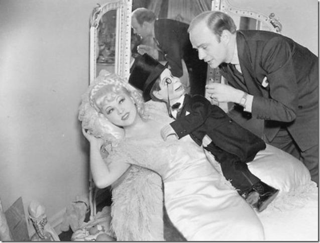 Mae West Charlie McCarthy Edgar Bergen bw