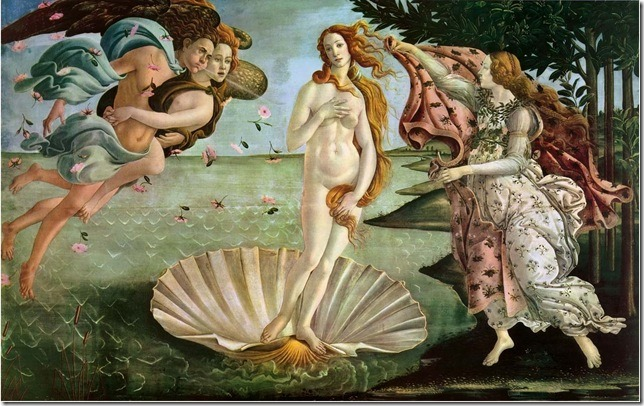 Painting Birth of Venus Botticelli