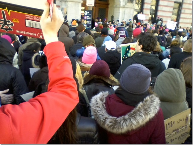 2017 02 04 Protest in Poughkeepsie 01