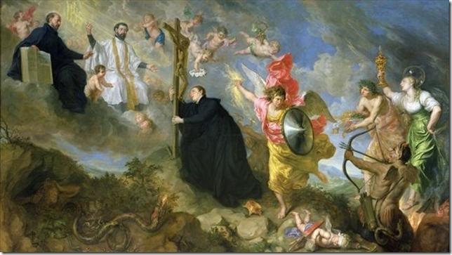 Painting Gonzaga Theodor Boeyermans The Vows of Saint Aloysius of Gonzaga