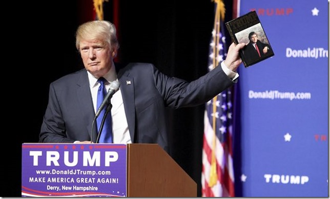 Trump Selling his book on the stump Maggie Schwalm AP via the Guardian
