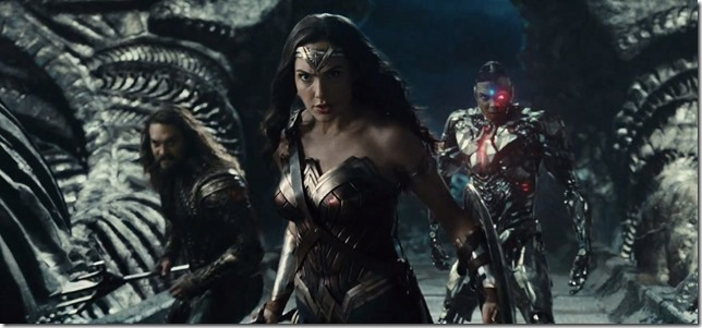 Wonder Woman JL Diana Aquaman and Cyborg having fun