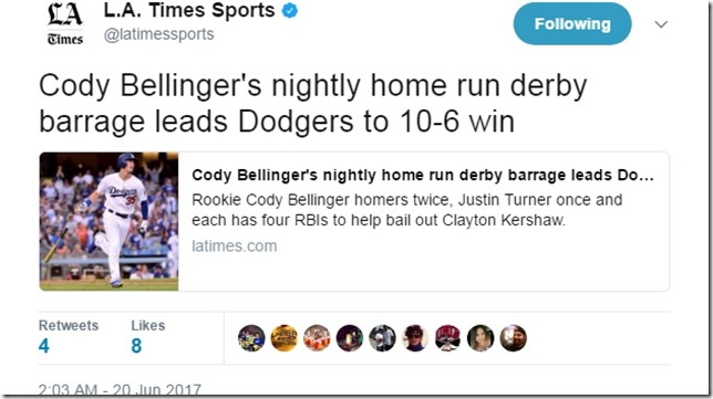 Mets Dodgers 2017 06 19 Bellinger HR Derby