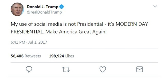 Trump Tweet Modern Day Presidential