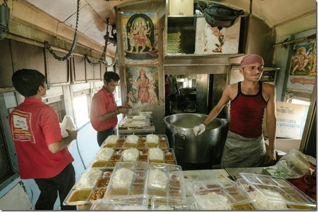 National Geographic India Vivek Express kitchen Matthieu Paley NG