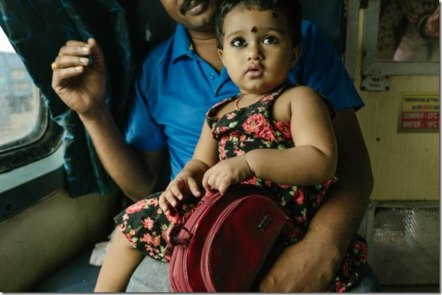 National Geographic India Vivek Express Little Girl and Father Matthieu Paley NG