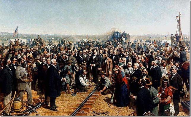 Painting The Last Spike Thomas Hill 1881 Wikimedia