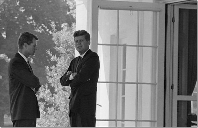 JFK Jack and Bobby Cuban Missile Crisis AP via WBUR