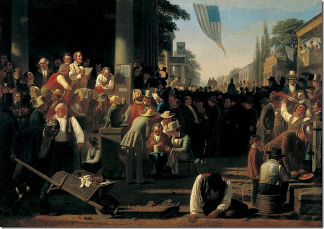 Painting Bingham The Verdict of the People George Caleb Bingham Wikimedia