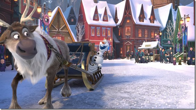 Olafs Frozen Adventure Olaf and Swen ready to set off