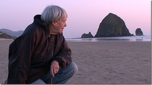 Le Guin Contemplating Earthsea still from doc Worlds of U K Le Guin