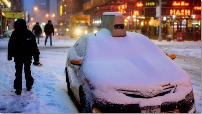 NYC Buried Taxi WABC TV