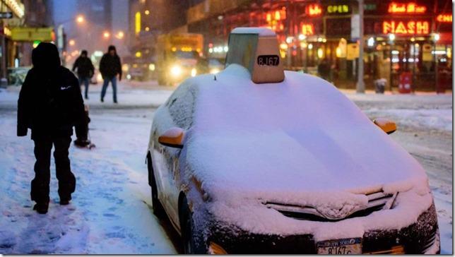 NYC Buried Taxi WABC TV