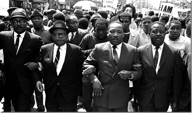 MLK Marching with sanitation workers March 28 1968 Jack Thornell AP via CBS News