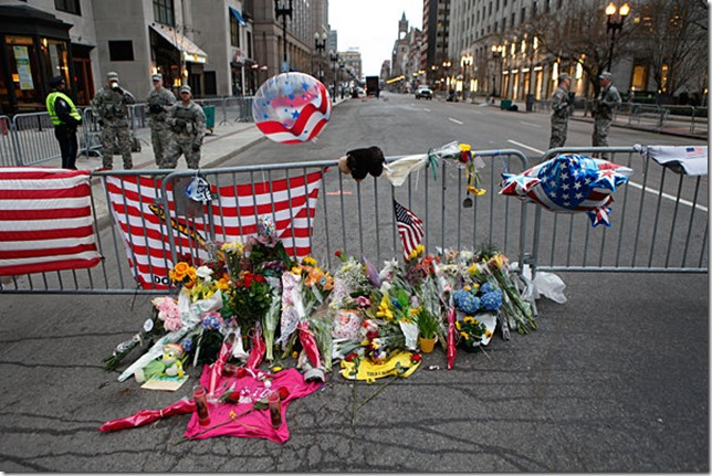 Boston Marathon Bombing Memorial Melanie Stetson Freeman Christian Science Monitor