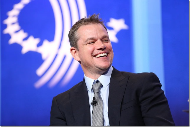 CGI 2014 Damon cracking up