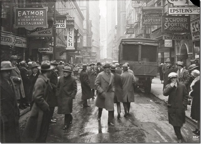 Nassau Street, looking south from Fulton Street, on March 3, 1926