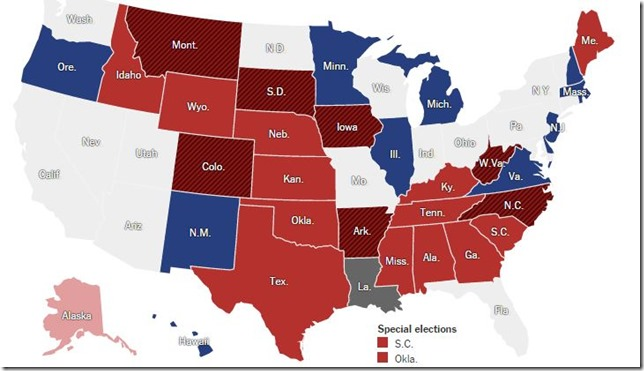 Senate map 2014 NYT 2