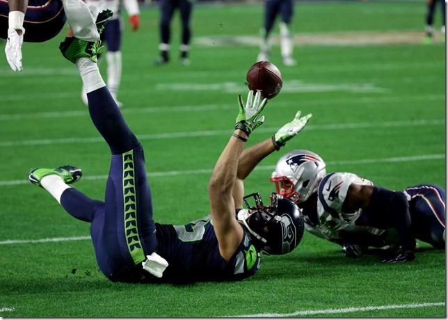 Super Bowl Wacky Catch Boston Globe