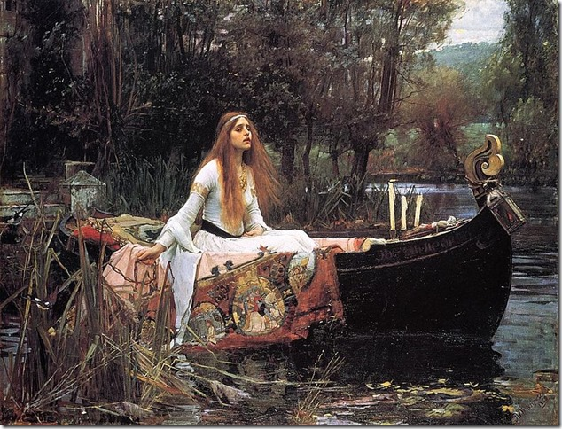 Painting Lady of Shalott Waterhouse