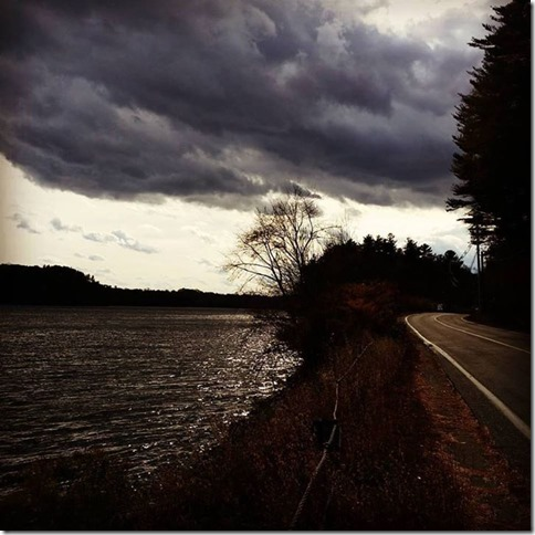 Post Card Merrimack River Pamela Levey 2015 10 29