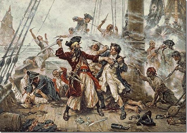 Pirates Capture of Blackbeard Jean Leon Ferris