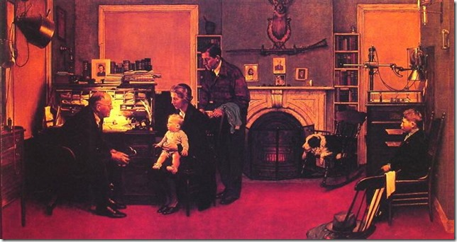Rockwell Visit to a Country Doctor Wikiart