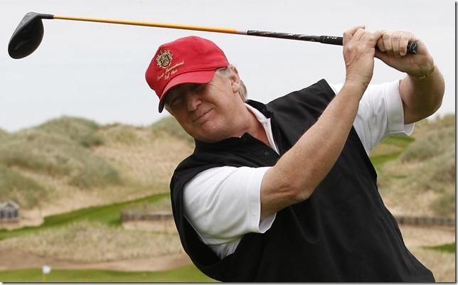 Trump Golfing Aberdeen David Moir Reuters via Newsweek