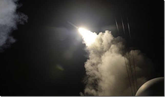 Syria Missile attack US Navy via AP via Politifact
