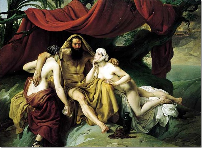 Bible Hayez Lot and his Daughters Wikiart
