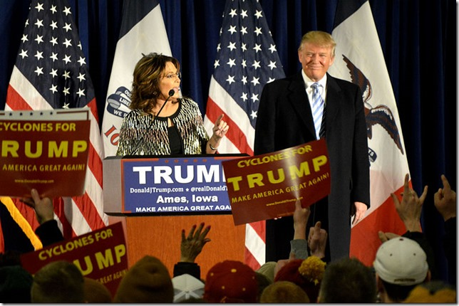 Trump Palin endorses Ames Iowa Alex Hanson Wikimedia Commons