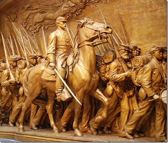 Robert Gould Shaw 54th Mass plaster cast National Gallery wikipedia