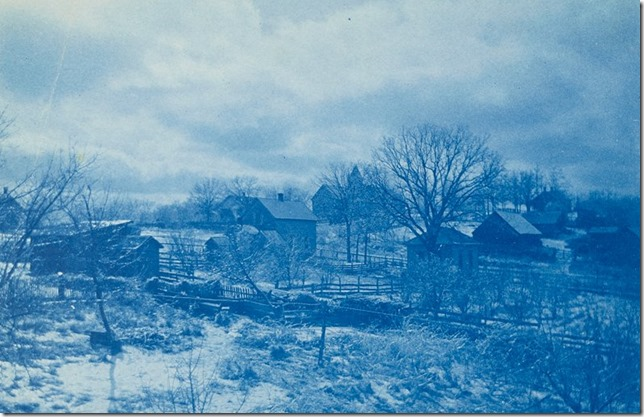 Nebraska Backyard View, Public School in Background, Rulo, Nebraska AW Cooney MIA