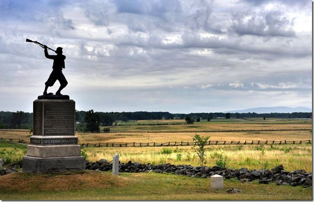 Gettysburg High Water Mark PA monument via Seattle Times