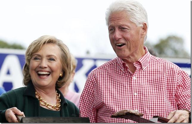 HRC Hillary and Bill Iowa Steak Fry Jim Young Reuters via Rediff