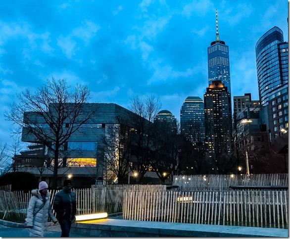 Post Card NYC Dolman Battery at dusk 03 15 2018 Joseph Dolman